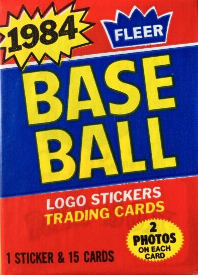 1984 Fleer baseball cards unopened wax pack