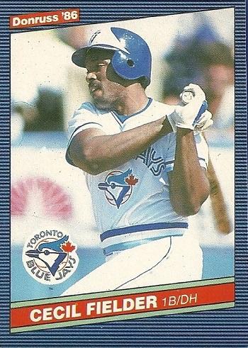 1986 Donruss Cecil Fielder Rookie Card