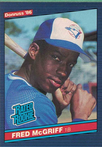 1986 Donruss Fred McGriff Rated Rookie Card