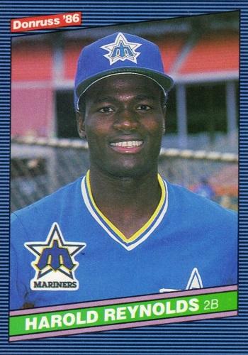 1986 Donruss Harold Reynolds Rookie Card