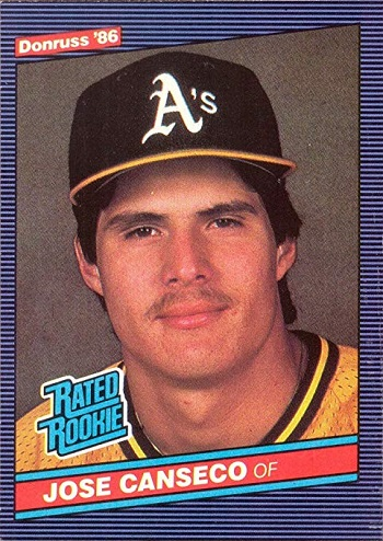 1986 Donruss Jose Canseco Rated Rookie Card