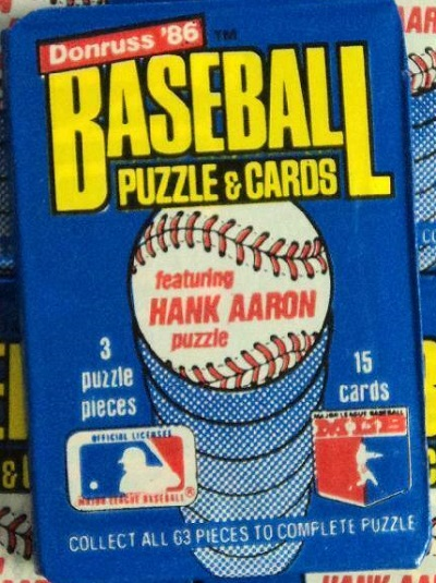 1986 Donruss unopened wax pack