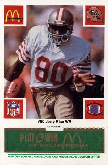 1986 Mcdonalds 49ers Jerry Rice