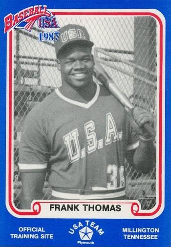 1987 Baseball Usa Pan-Am Games Blue Frank Thomas