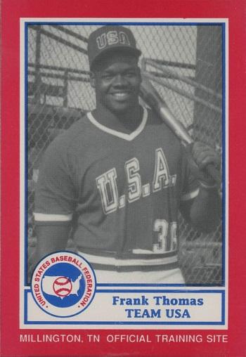1987 Bdk Pan-Am Team Usa Frank Thomas