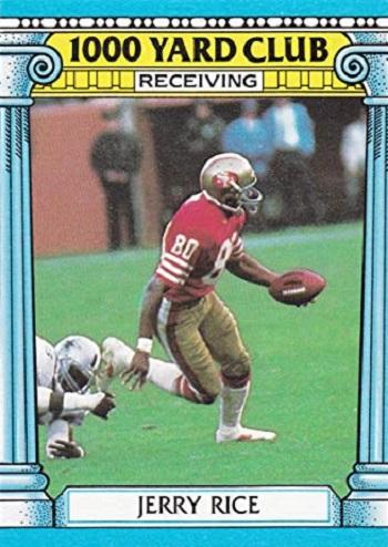 1987 Topps 1000 Yard Club Jerry Rice