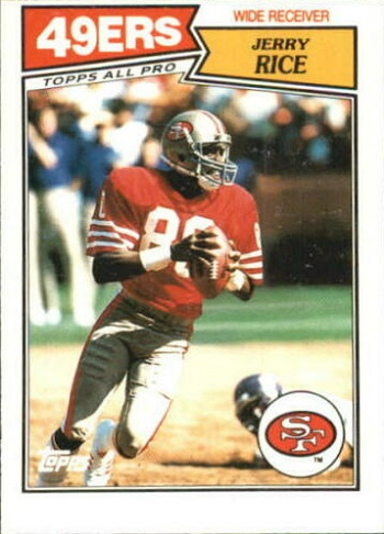 1987 Topps American and Uk Jerry Rice