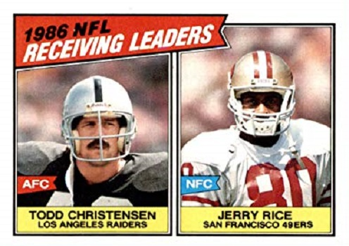 1987 Topps Rice and Christensen Receiving Leaders