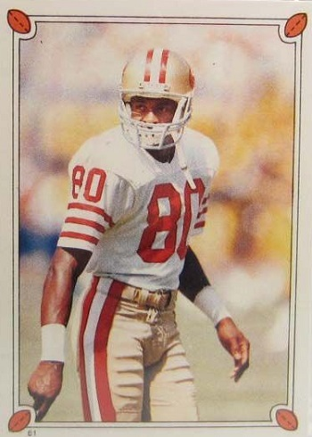 1987 Topps Stickers Jerry Rice
