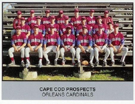 1988 Ballpark Cape Cod Prospects Orleans Cardinals Team Card