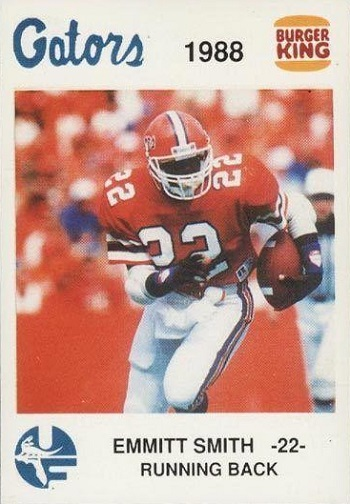 1988 Florida Burger King Gators Emmitt Smith