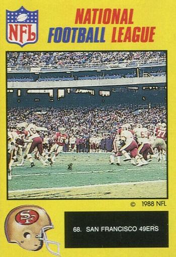 1988 Monty Gum 49ers Joe Montana