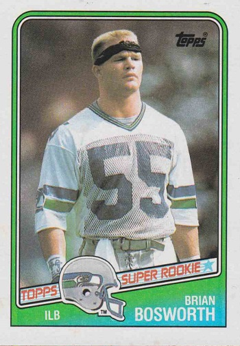 1988 Topps Brian Bosworth Rookie Card