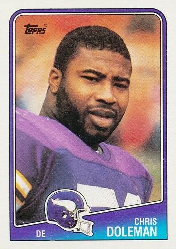1988 Topps Chris Doleman Rookie Card