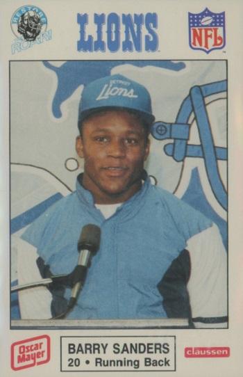 1989 Detroit Lions Police Barry Sanders