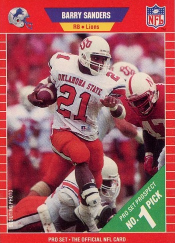 1989 Pro Set Barry Sanders Rookie Card