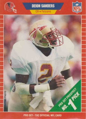 1989 Pro Set Deion Sanders Rookie Card
