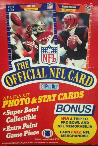1989 Pro Set football cards unopened wax pack box