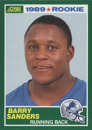 1989 Score Barry Sanders Rookie Card