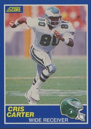 1989 Score Cris Carter Rookie Card