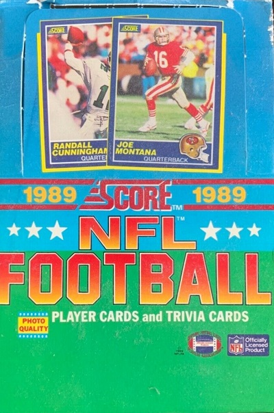 1989 Score Football cards unopened wax packs box