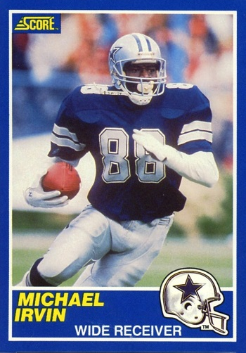 1989 Score Michael Irvin Rookie Card