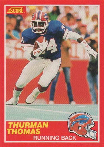 1989 Score Thurman Thomas Rookie Card