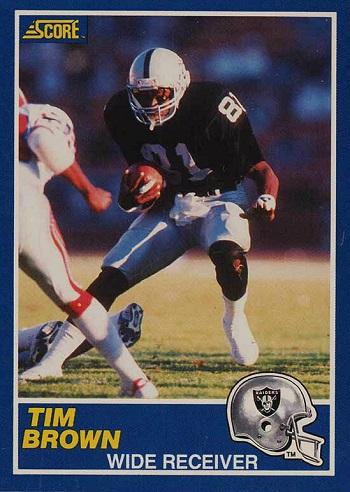 1989 Score Tim Brown Rookie Card