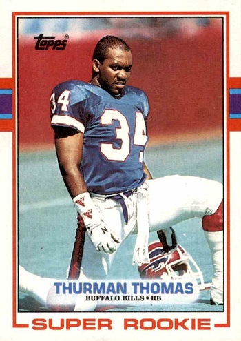 1989 Topps Thurman Thomas Rookie Card