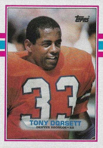 1989 Topps Tony Dorsett
