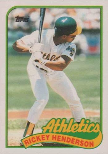 1989 Topps Traded Rickey Henderson