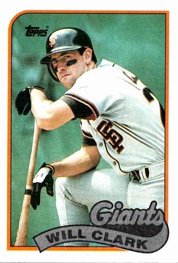 1989 Topps Will Clark
