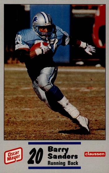 1990 Detroit Lions Police Barry Sanders
