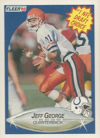 1990 Fleer Jeff George Rookie Card