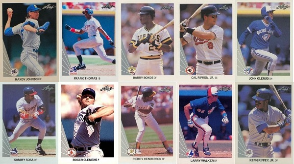 1990 Leaf Baseball Cards 11 Most Valuable Wax Pack Gods