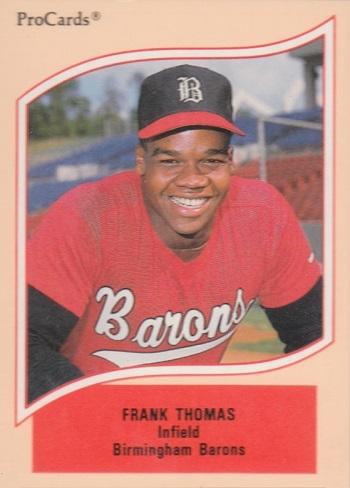 1990 Procards A & Aa Minor League Stars Frank Thomas