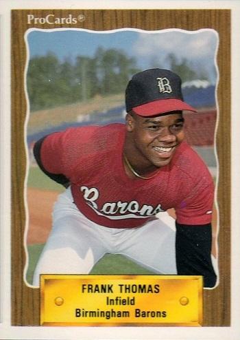 1990 Procards Birmingham Barons Frank Thomas