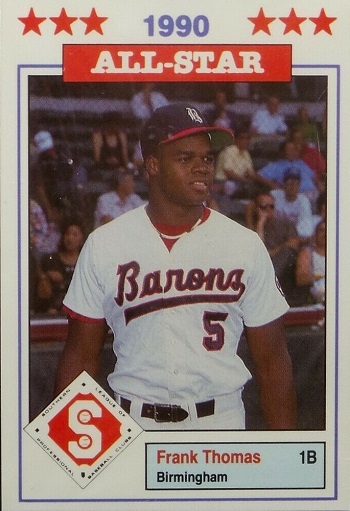 1990 Southern League All-Stars Donn Jennings Frank Thomas
