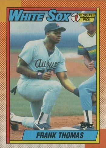 1990 Topps Frank Thomas Name On Front