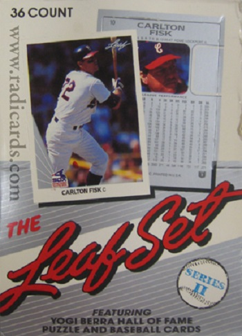 1990 leaf baseball cards series ii unopened wax box carlton fisk