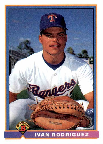 1991 Bowman Ivan Rodriguez Rookie Card