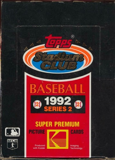 1992 Stadium Club baseball cards topps wax packs mylar unopened box series 2