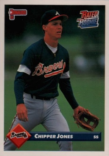 1993 Donruss Chipper Jones Rated Rookie Card