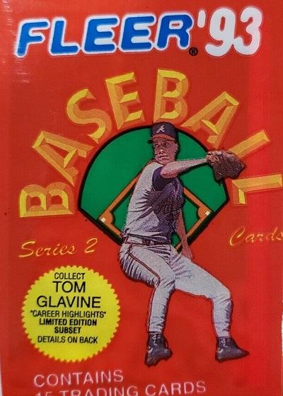 1993 Fleer baseball cards unopened wax pack