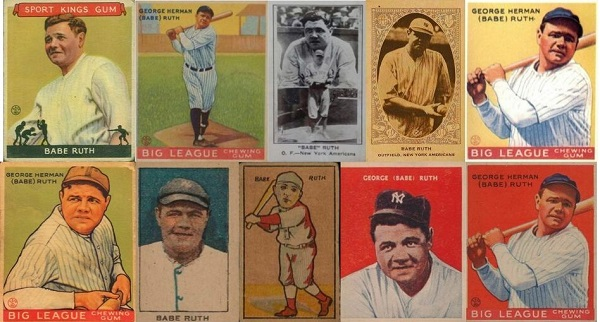 10 Most Expensive Babe Ruth Baseball Cards Sold on eBay in Summer 2019