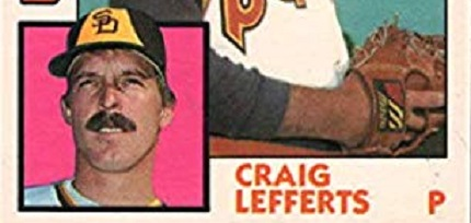 Happy Birthday Baseball Card — Craig Lefferts — 1984 Topps Traded (#72T)