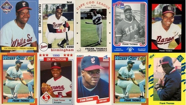 The First 28 Frank Thomas Baseball Cards — Rookie Cards and Pre-Rookies