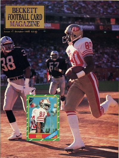 Jerry Rice October 1990 Beckett Football Card Magazine
