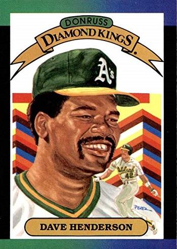 1989 Donruss Diamond Kings Dave Henderson (#20)