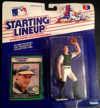 1989 Starting Lineup Terry Steinbach (#38)
